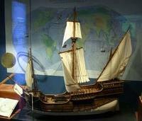 Maqueta de barco en el Museo Maritimo de Cantabria
