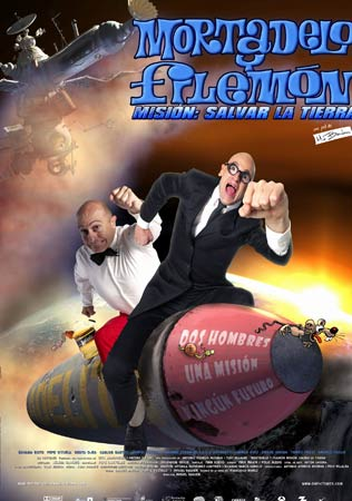 Cartel Mortadelo y filemón. Misión salvar la tierra