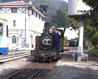 Museo del Ferrocarril del Azpeitia. Máquina de vapor