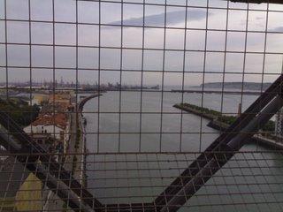 El Abra desde la pasarela del Puente Colgante de Portugalete