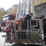Bomberos Bilbao. Brazo articulado