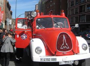 Bomberos Bilbao. Paseo en Camion