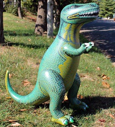 Tiranosaurio rex hinchable